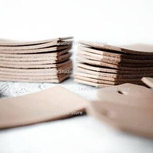 Image 2 - Moule pour bricolage en cuir, poinçon, outil dartisanat 40x80mm, étiquettes pour bagages, lame en cuir, découpe de règle, en acier, 40x80mm