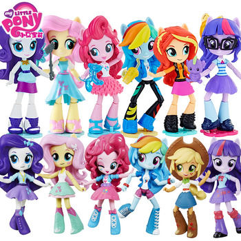 Genuine12cm Dolls My Little Pony Toys for Girls Rainbow PVC Action Figure Anime Baby Children Birthday - discount item  44% OFF Action & Toy Figures