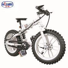 242pcs Technic Blocks Folding Bike Compatible City Vehicle Sets 1:6 Pedal Bicycle Road Model Building Blocks Kits Kids Toys(China)