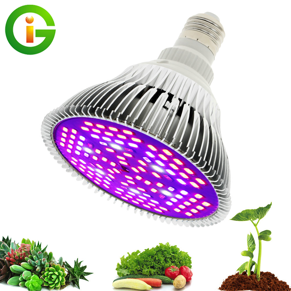 LED Grow Light Full Spectrum 6W/10W/30W/50W/80W E27 UV IR LED Growing Bulb for Indoor Hydroponics Flowers Plants LED Growth Lamp(China)