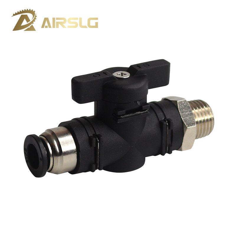 BC BL hand valve stop pneumatic switch quick Push in fitting for 4 6 8 10mm hose One side external thread M5 1/8 1/4
