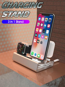 Dock-Station Airpods-Charger-Holder Watch Iwatch-Mount-Stand 1-Charging-Dock Aluminum