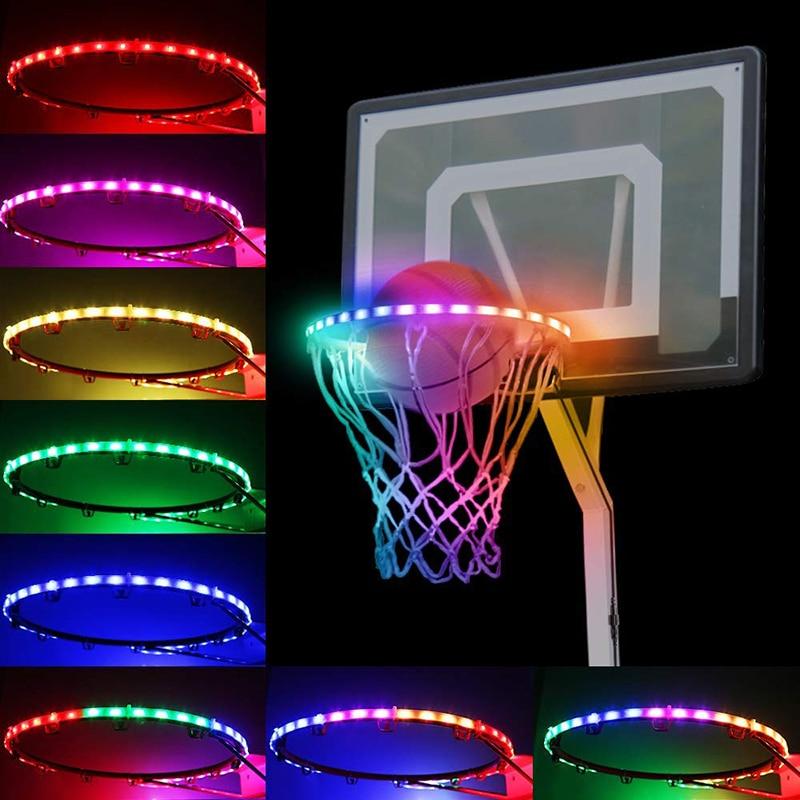 LED Panier Basketball  Hoop Solar Light Strip Basket Hoop Rim Playing At Night Accessories Table Basketball Table кольцо