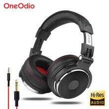 Oneodio com fio profissional estúdio pro dj fones de ouvido com microfone sobre a orelha monitor música fone de ouvido para o telefone pc