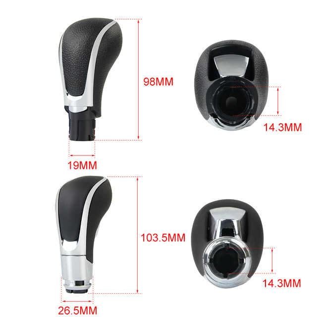 FREE SHIPPING 1 x Universal Automatic Transmission Car Gear Shift Shifter Lever Knob For Opel/Vauxhall/Insignia WLR-GSK97
