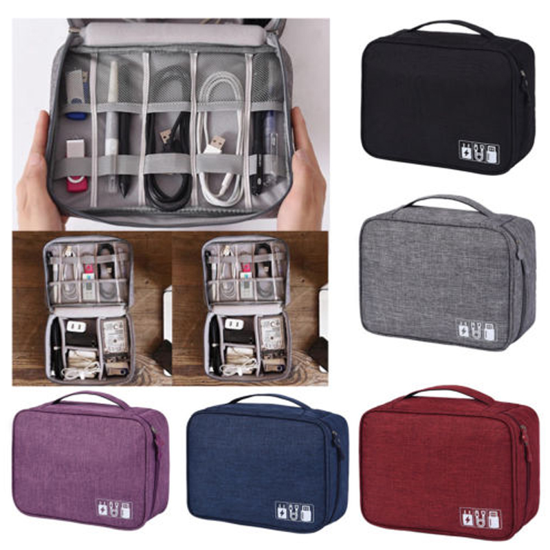 Electronic Storage Bag Data Line Storage Bag Multi-functional Waterproof Travel Cable Bag Portable Electronics Accessories Bag