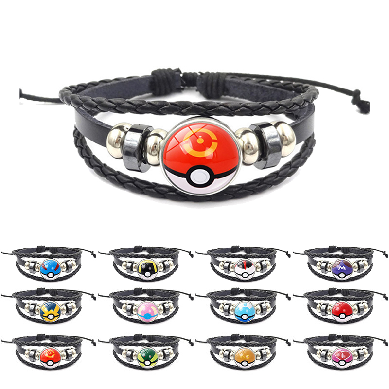 poke-ball-bracelet-anime-font-b-pokemon-b-font-cosplay-font-b-pokemon-b-font-go-time-gem-cabochon-metal-wristband-men-women-gift