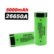 Batterie Rechargeable 3.7 Li-ion, 26650A, haute capacité, 5000 V, 100% mAh, nouvelle collection 26650