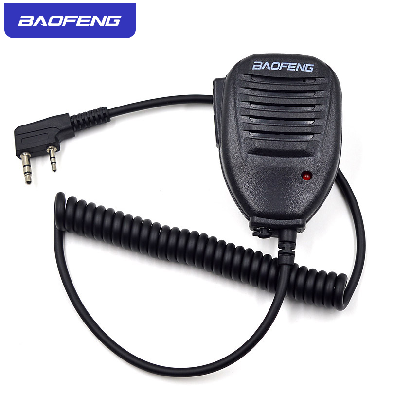 Original Baofeng Radio Speaker Mic Microphone PTT For Portable Two Way Radio Walkie Talkie UV-5R UV-5RE UV-5RA Plus UV-6R