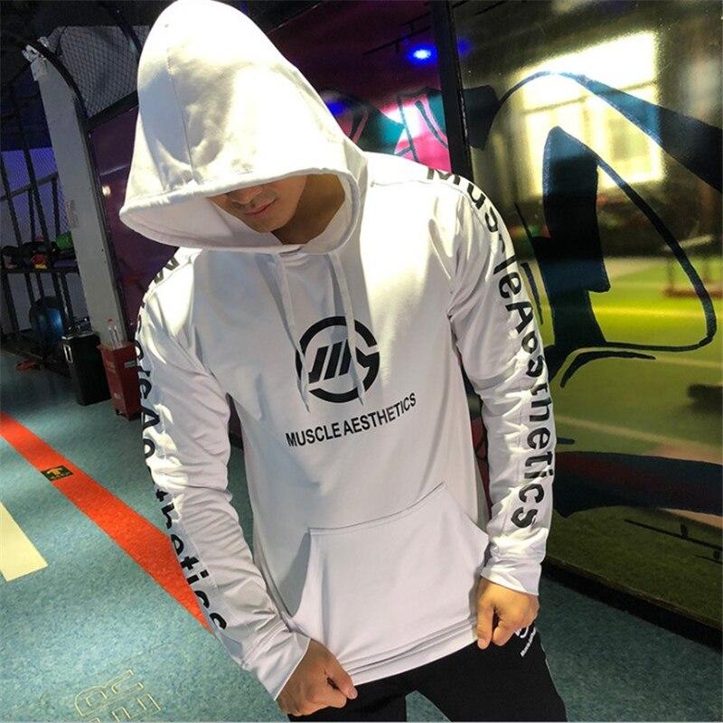 2019 New Autumn Fitness Hoodies Brand Long sleeve Clothing Men Hoody pullover Casual Sweatshirt Muscle Mens Slim Hooded Tops