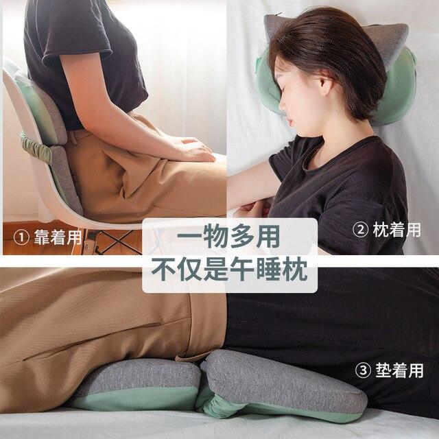 Cochilando Cochilo Travesseiro de Espuma de memória para Mesa Mesa Travesseiro Cochilo Travesseiro Apoiador Almofada Do Assento Encosto de Cabeça de Viagem Pescoço Travesseiro Da Cama