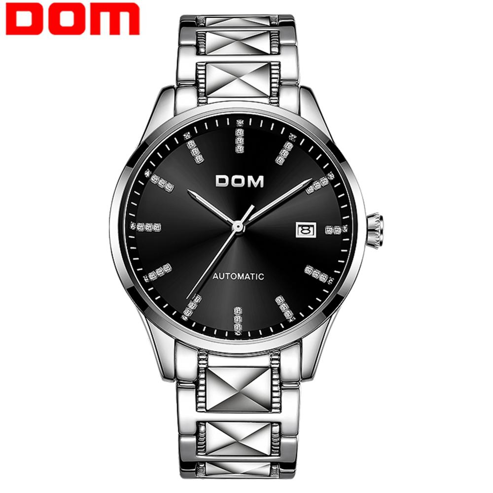DOM Original Brand Watch Men Automatic Watch Business Stainless Steel 3ATM Waterproof Business Men Wrist Watches M-1278D-1M
