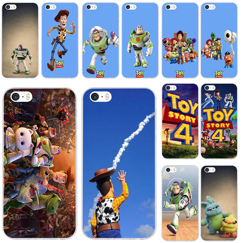 <font><b>Toy</b></font> <font><b>Story</b></font> Soft TPU Silicon Mobile Phone Cases for <font><b>iPhone</b></font> X XR XS Max 10 7 <font><b>6</b></font> 6s 8 Plus 4 4S 5 5S SE 5C Back Cover <font><b>Capa</b></font> image