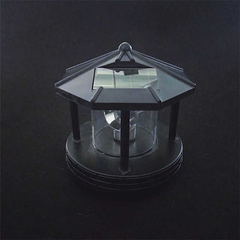 Solar Led Roterende Vuurtoren Licht Tuin Outdoor Home Decor Yard Gazon Lamp Verlichting DC120