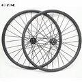 650B Горный велосипед Углеродные колеса xc 30x30 мм бескамерный диск велосипед колеса novatec D791SB D792SB 100x15 142x12 mtb Колесная часть 27 5