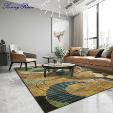 SunnyRain 1-piece Geometric Printed Carpet for Living Room Large Area Rugs for Bedroom Rugs and Carpets for Home Living Room simple modern thicken lamb velvet rug bedside bedroom soft carpets for living room decor carpet can custom home large area rugs