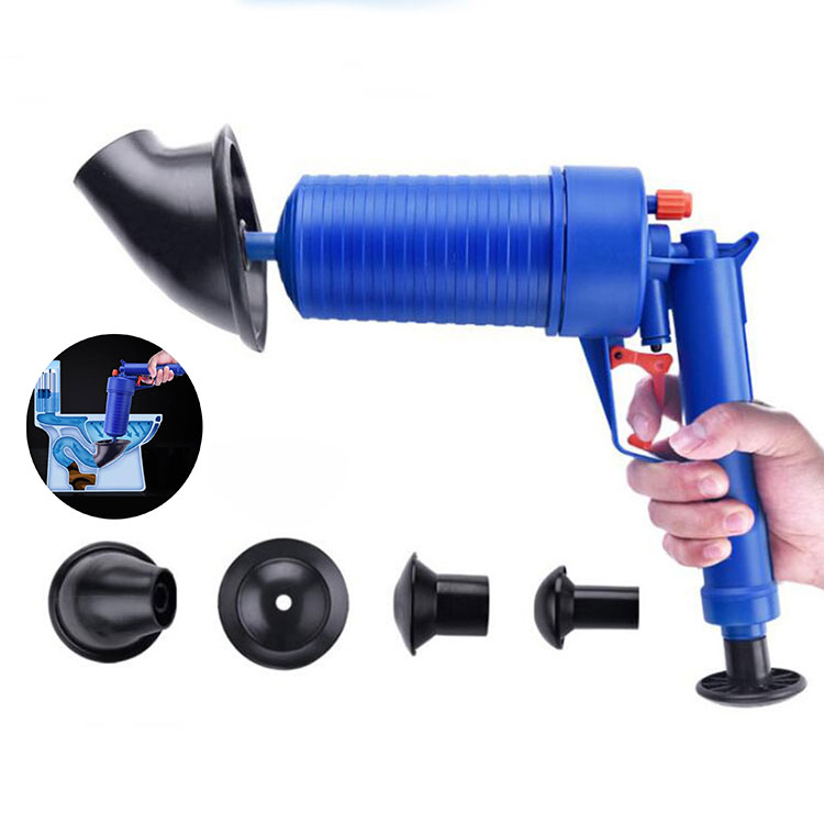 High Pressure Air Drain Blaster Home Toilet Tool Cleaner Sewer Filter Sink Pipe Clog Dredge Plunger Remove Kitchen Bathroom Pump