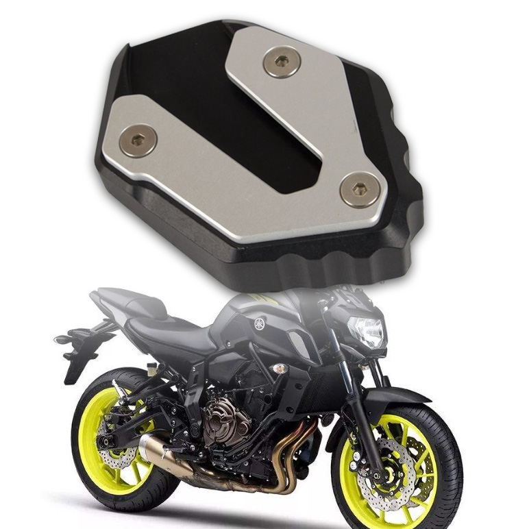 Motorcycle Kickstand Foot Side Stand Extension Pad Support Plate For Yamaha MT-07 Tracer 700 XSR700 FZ-07 2014-2018