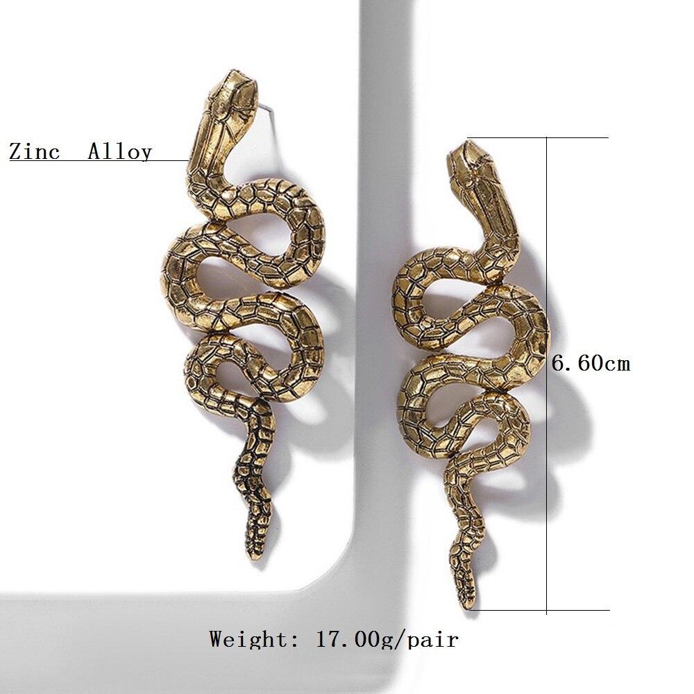 Pendientes Boho Snake Earrings Vintage Snake Earrings For Women Fashion Long Earrings Statement Personality Earrings Brincos