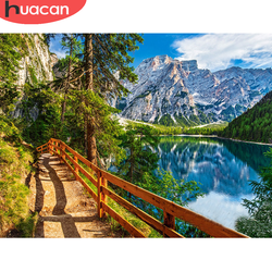 HUACAN DIY Diamond Embroidery Mountain Landscape Diamond Painting 5D Natural Scenery New Arrival Room Decoration