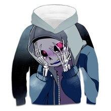 Sweat-shirt à capuche avec impression 3d pour fille, vêtement humorishauts, collection printemps-automne, 4-14T