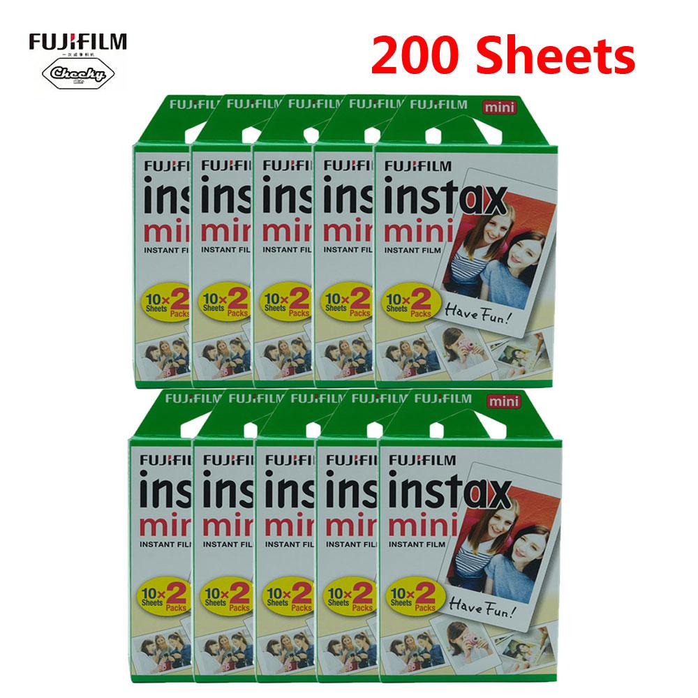 Оригинальная пленка Fuji 10-200 для Fujifilm instax mini 11 9, пленка с белым краем, ширина 3 дюйма, пленка для мгновенной камеры mini 8, 9, 11, 7s, 25