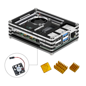 Image 2 - New 9 Layers Case designed for Raspberry Pi 4 Model B with heat sink and power line type c interface EU Charger Adapter