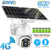 3G 4G IP Camera 3MP WiFi CCTV Camera Outdoor 8W Solar Panel Rechargeable Battery Powered Security Camera PIR Motion ICAM+ APP