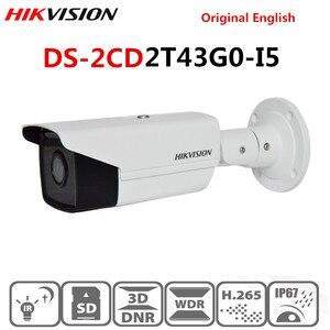Image 1 - Hikvision جديد كاميرا مراقبة فيديو في الهواء الطلق DS 2CD2T43G0 I5 4MP الأشعة تحت الحمراء 50M رصاصة POE كاميرا IP H.265 + استبدال DS 2CD2T42WD I5