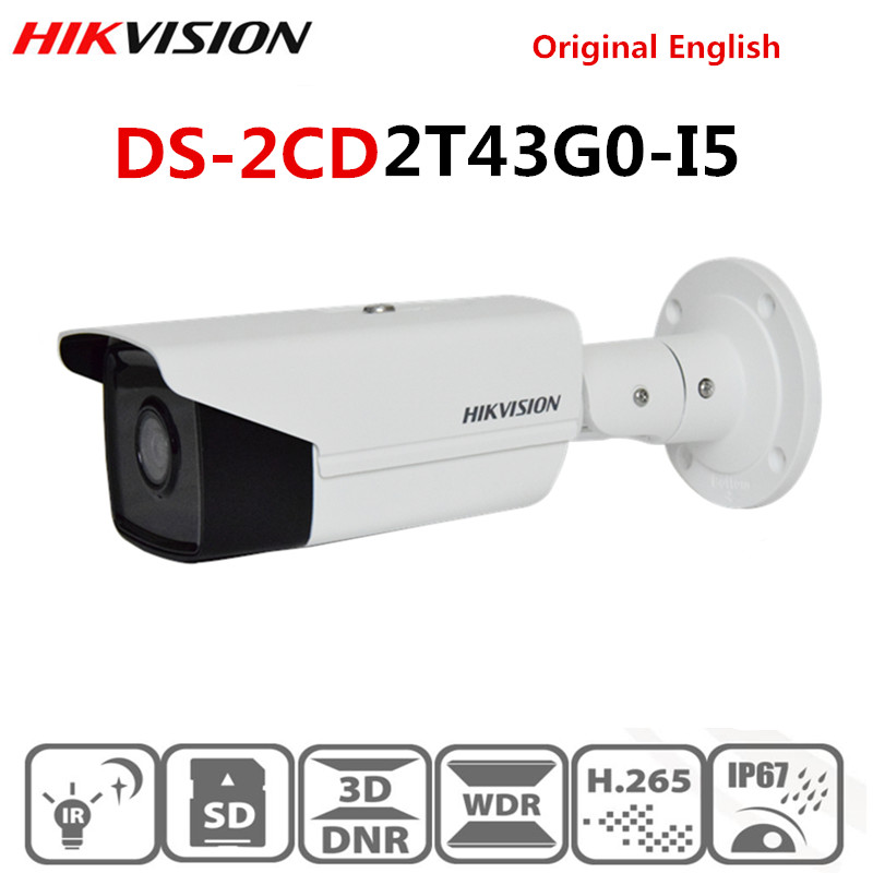 Hikvision New Video Surveillance Camera outdoor DS 2CD2T43G0 I5 4MP IR 50M Bullet POE IP Camera H.265+ Replace DS 2CD2T42WD I5-in Surveillance Cameras from Security & Protection