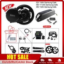 Bafang Kit de conversión de bicicleta eléctrica BBS02B, Motor medio de 48V y 750W, 52V, 14Ah, 48v, 12Ah, 17,5ah, Samsung, 68 73mm