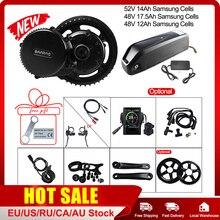 Bafang – Kit de conversion de vélo électrique BBS02B, 68 73mm, 48V 750W, pour moteur 52V 14Ah, avec batterie de portable Samsung 48V 12Ah 17.5Ah