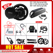 E bike Bafang BBS02B 48V 750W Mid Motor 52V 14Ah 48v 12Ah 17.5Ah Samsung Cell Battery Electric Bicycle Conversion Kits 68 73 mm