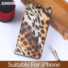 Flip Phone case For iPhone 6 6s 7 8 Plus 11 Pro X Xr Xs Max Case For 6p 6sp 7p 8p Cheetah texture Cover