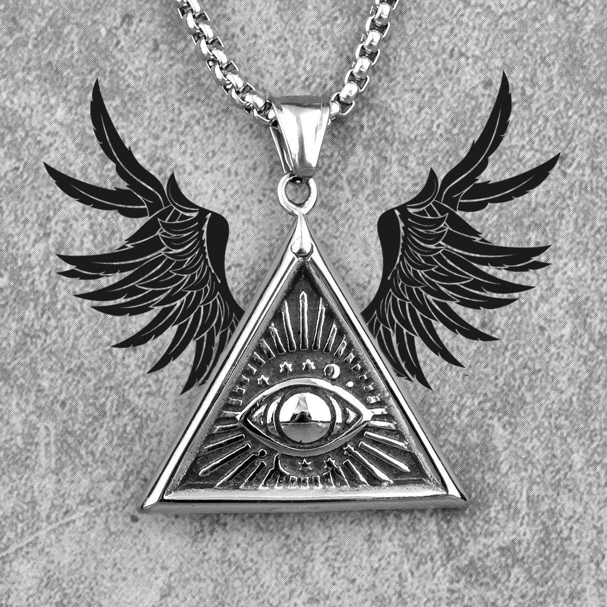 Men/'s Stainless Steel Necklace Men/'s Necklace Boyfriend Gift Men/'s Jewelry Husband Gift Men/'s Pendant Men/'s Triangle Necklace