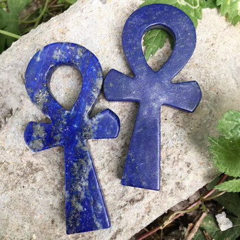 10CM naturalny kryształ lapis lazuli kamień egipski krzyż kobiet symboliczny punkt uzdrowienie reiki tanie i dobre opinie CN (pochodzenie) MASKOTKA Nowoczesne CHINA