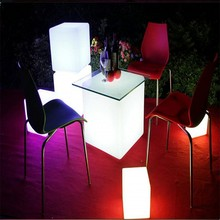 Rechargeable LED Cube Seat Bar Stool With Remote Control For Disco Nightclub 7 Colors Changing Night Light Built-In Battery