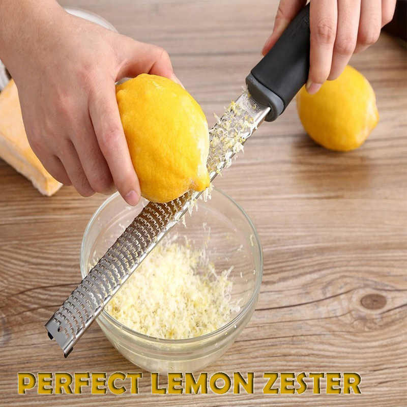 مبشرة الحمضيات والليمون وجبن البارميزان والليمون والزنجبيل والثوم وجوزة الطيب والشوكولاته والخضروات الفاكهة سكين للجبن 32.5 سنتيمتر