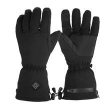 Мужские и женские перчатки с электрическим подогревом, зимние одноцветные перчатки для езды на велосипеде, пеших прогулок и т. д. теплые варежки с сенсорным экраном