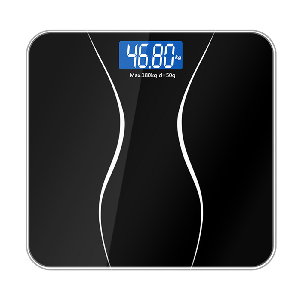 Electronic Glass Body Scale Digital Weight Balance LCD Display Smart Household 180KG/50G PAK55|Bathroom Scales| |  - title=