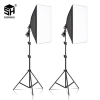 2 шт., 50x70 см, софтбокс для фотосъемки, светильник, наборы, профессиональный непрерывный светильник, системное оборудование для фотостудии