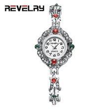 Роскошные женские кварцевые часы из нержавеющей стали в ретро