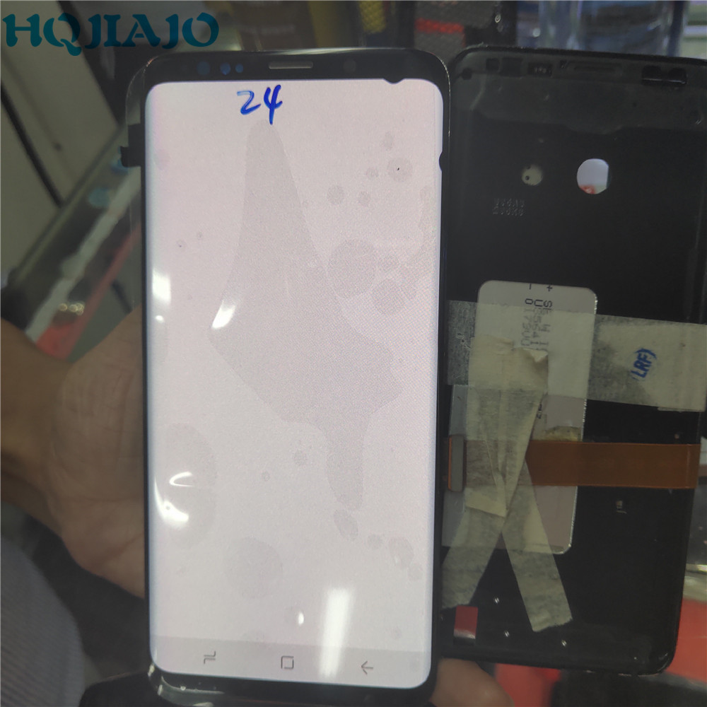 Dead Pixels AMOLED Test For Samsung Galaxy S9+ G965F G965W Touch Screen Digitizer LCD Display For Samsung G965 G965U No Frame