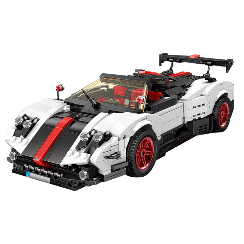 legoinglys <font><b>23002</b></font> MOC Technic Cars Toys The Pagani Zonda Cinque Car Set Kids Christmas Gift Car Model Building Blocks Bricks Kit image