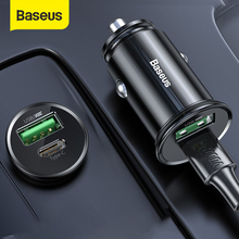 Baseus 5A Car Charger USB Type C Port For 12-24V Auto Cigarette Socket Support PPS PD3.0 VOOC QC3.0 Auto Fast Charging Adapter