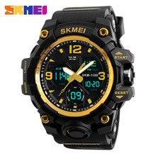 นาฬิกาข้อมือSKMEIผู้ชายกีฬานาฬิกาBig Dialนาฬิกาควอตซ์ผู้ชายหรูหรายี่ห้อLEDทหารกันน้ำนาฬิกาข้อมือผู้ชายใหม่S shock