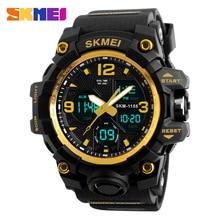 Skmei男性スポーツ腕時計ビッグダイヤルクォーツデジタル腕時計男性用高級ブランドled軍事防水男性腕時計新s衝撃