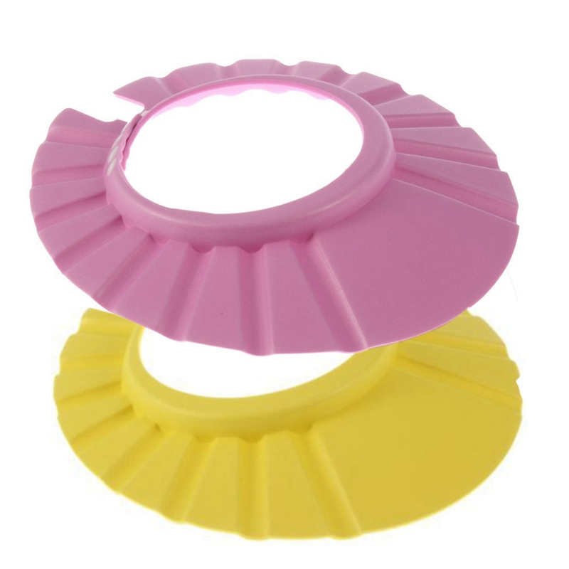 2PCS Adjustable Soft Baby Kids Child Children Shampoo Bath Shower Wash Hair Waterproof Eye Shield Cap Hat Shield Sun Cap Tub Bat