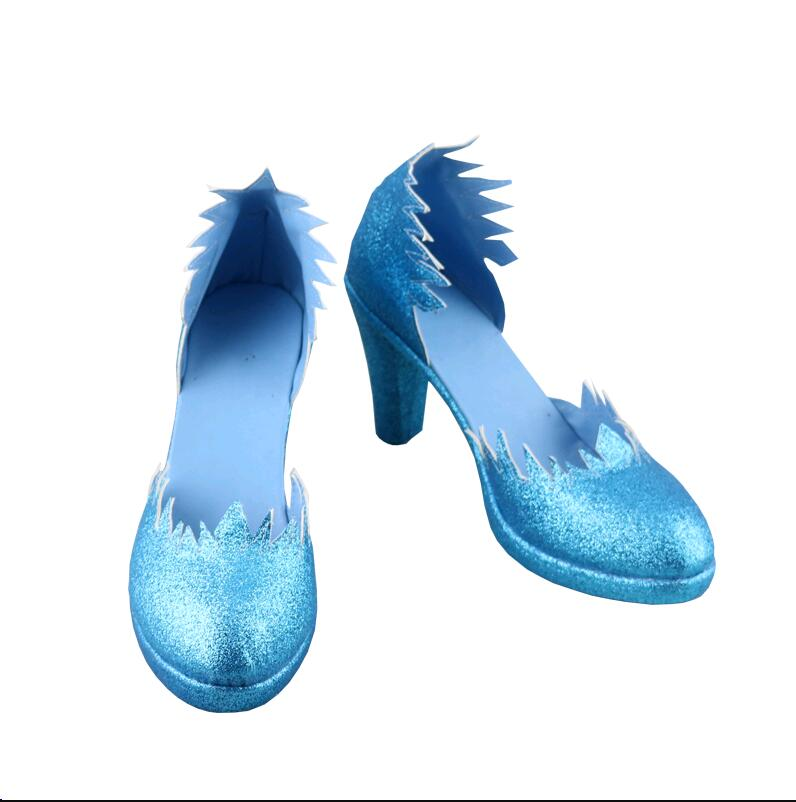 Snow Queen Princess Elsa Cosplay Shoes Boots Halloween Carnival Cosplay Costume Accessories For Women Girls