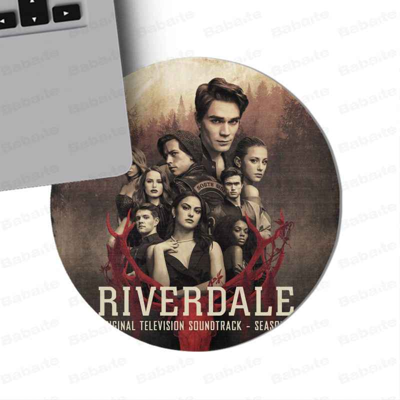Babaite Mijn Favoriete Amerikaanse Tv Riverdale Logo Ronde Duurzaam Rubber Muis Mat Pad Ronde Mousepad Rubber Rechthoek Mousemats